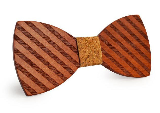 Mahoosive Gravata Plaid Wood Bow Tie For Man Wedding Butterfly Design Necktie Cheery Wooden Bow Ties-novahe