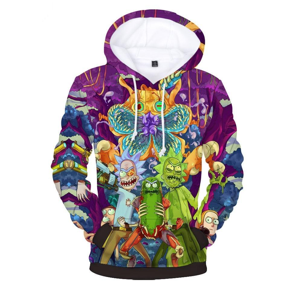 LUCKYFRIDAYF Rick And Morty Hoodies 3D Print Women/Men Sweatshirts Anime Style Men/Women Hoodies Sweatshirt Casual Clothes 4XL-novahe