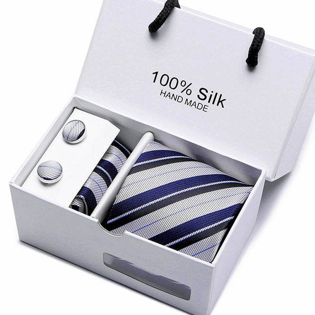 Hot sale Extra Long size 145*7.5cm Mens Skinny Ties navy blue Silk Plaids Stripes Dots Jacquard Neck tie for wedding Party-novahe