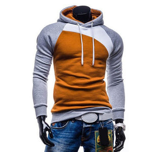 2018 Spring Autumn Hoodies Men Sweatshirt Casual Hooded Hoodie Streetwear Fashion Patchwork Pullover Tracksuit moleton masculino-novahe