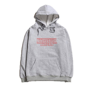 Professional Dropshipping Unisex Stranger Things Classic Logo Hoodie Cotton Long Sleeves Red Letter Print Hoody Sweatshirts-novahe