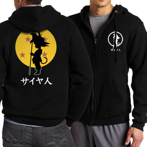 New Arrival Anime Dragon Ball Z Zip Up Hoodies Men 2017 Spring Autumn Men Jacekt Sweatshirts Fashion Slim Fit Coat For Fans-novahe