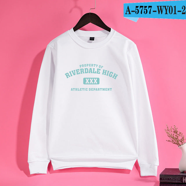 Trendy Riverdale HIGH Men/Women Hoodies 4Color Personality Casual Women Hoodies Black Snake Pattern Comfortable Sweatshirts 4XL-novahe