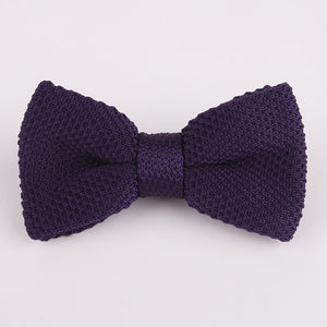 Mantieqingway Brand Solid Bow Knitted Tie Wedding Geometric Noeud Papillon Fashion Polyester Silk Cravat Bowties Neckwear Gifts-novahe
