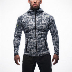 2018 NEW Men Hoodies Brand casual hoodie hombre coat Bodybuilding and fitness hoodies Sweatshirts Zipper Muscle men's sportswear-novahe