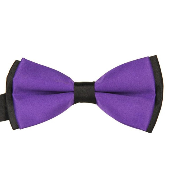 KANCOOLD bow tie Fashion Novelty Accessory Classics High End The British Men's Plain Bowtie Polyester Pre Tied Wedding JAN22-novahe