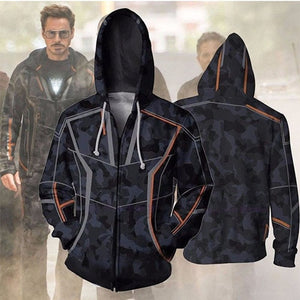 Avengers 3 Infinity War Iron Man Tony Stark Hoodie Sweatshirt For Men 3D Print Hoodies Streetwear Casual Cospaly Hoodies-novahe
