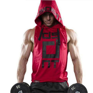 2017 Mens summer sleeveless Hoodies fitness fashion Casual jacket Hooded Sweatshirts Bodybuilding Brand sportswear vest clothing-novahe