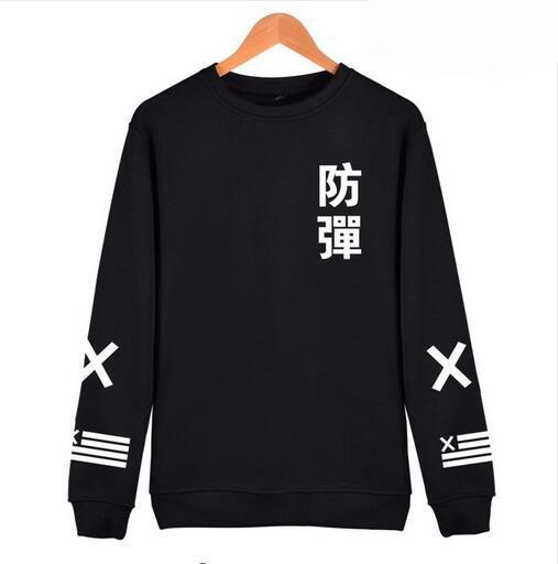 2018 BTS Kpop Harajuku Hoodies men Black Cotton Fashion Hip Hop Coat Capless Sweatshirt men BTS Korean Casual Bangtan Clothes-novahe
