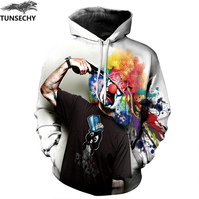 TUNSECHY New Fashion Men/Women 3D Sweatshirts Print Flowers Lion Hoodies Autumn Winter Hooded Pullovers Tops Free transportation-novahe