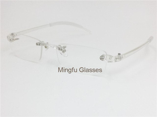 EAGWOO Plastic TR Eyeglasses Rimless Optical Glasses Men Women Plain Spectacles Reading Myopia Vision Glasses Frame Shadow 082-novahe