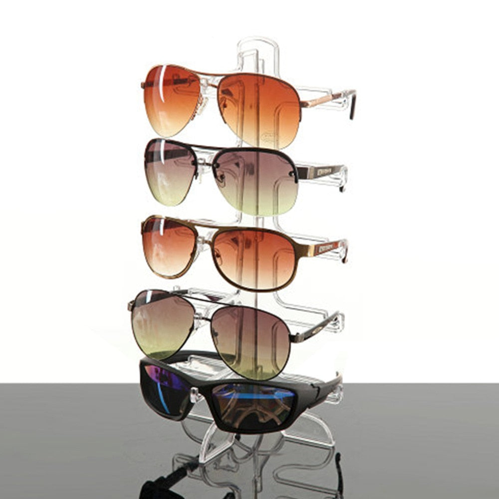 Sunglasses Display Stand Plastic Frame 5 Layers 3 Colors Glasses Eyeglasses Organizer Eyewear Counter Show Stands Holder Rack-novahe