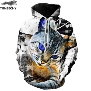 TUNSECHY Brand New Fashion Wolf Hoodies Men/women 3D Sweatshirts Print Double Wolf Hoody Hooded Hoodies Tracksuits Tops-novahe