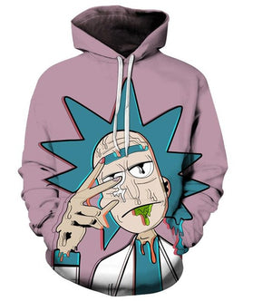 Rick Et Morty Hoodies 3D Unisexe Sweat Hommes Marque A Capuche Comique Casual De Mode A Capuchon Pull Drop Ship Streetwear-novahe