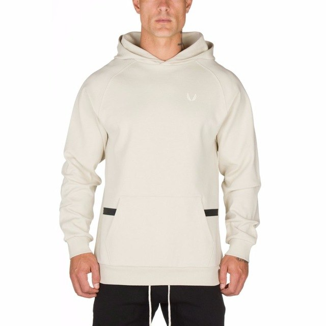 2018 autumn Fitness Men Hoodies Sweatshirt Muscle Men's Slim Fit Hooded Jackets Brand Clothing Men Hoody Zipper Casual GYMS-novahe