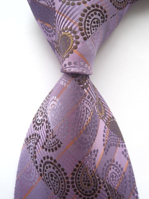 New Classic 100% Silk Paisley Plaid Floral 58 Color Ties JACQUARD WOVEN Men Formal Wear Business Suit Wedding Party Necktie-novahe