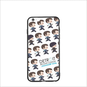 BTS Detroit: Become Human Hot Sale Connor TPU Case for Iphone 6 6s plus Silicon Case Soft Cartoon Kawaii Transparent Solid Cover-novahe