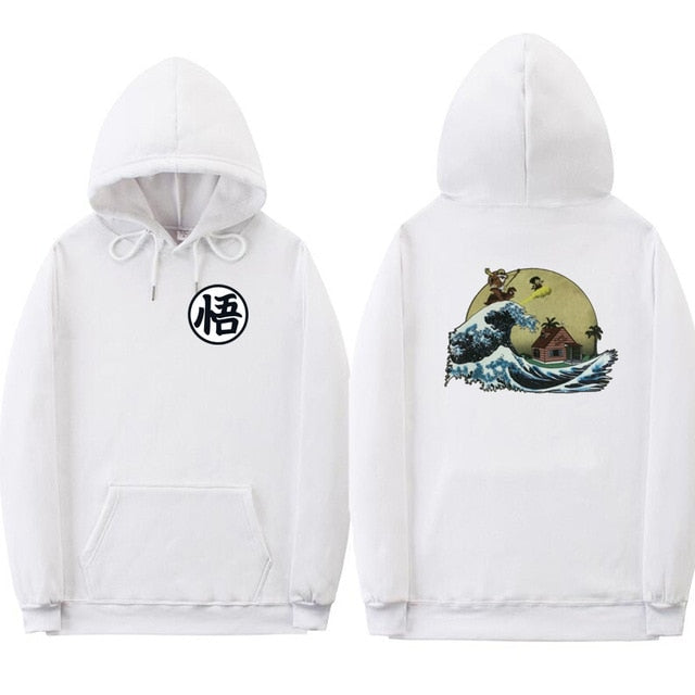 Off white hoodies Print cartoon Turtle Goku dragon ball hoodie poleron hombre Streetwear sudadera dragon ball hoodie sweatshirt-novahe