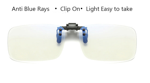 IVSTA Anti Blue Rays Computer Glasses Clips Men Flip Clip On Clear color for Computer Protection Gaming Glasses UV400 radiation-novahe