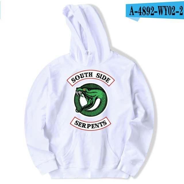 luckyfridayf Riverdale cotton oversized Hoodie sweatshirt south side serpents TV Drama Men/Women Streetwear Casual jacket coat-novahe