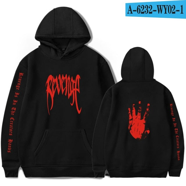 LUCKYFRIDAYF Xxxtentacion Revenge Cool Hoodies Men/Women Hot Sale Sweatshirts Rapper Hip Hop Hooded sweatershirts male/Women 4XL-novahe