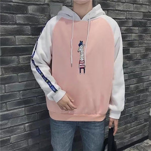 Korean Sweatshirt Men Fashion Hoodies Mens Casual Harajuku Kawaii Anime Hoodie Fashion Pink Top Sudaderas Para Hombre vintage-novahe