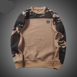 Brand Patchwork Hoodies Men Autumn Camouflage Sweatshirts Male O-Neck Slim Fit Knitting Mens Hoodies Man Pullover US/EU size XXL-novahe