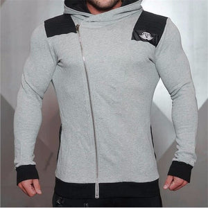 2018 Fashion Cotton Hoodies Men Fitness Hip Hop Mens Brand Solid Hooded Zipper Hoodie Cardigan Sweatshirt Slim Fit Men Hoody-novahe