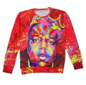 Raisevern new summer harajuku 2pac tupac sweatshirt 3D long sleeve o neck thug life print sweatshirts tupac shakur clothing top-novahe