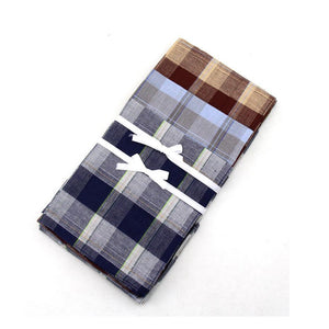 10 Pcs/Lot 36*36cm Thin Male Handkerchief New Multicolor Square Classic Pattern Vintage Pocket Hanky Plaid-novahe