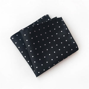 CityRaider Brand 2018 New Dot Pirnt Silk Handkerchiefs for Men Pocket Square Wedding Business Clothing Accessories A059-novahe