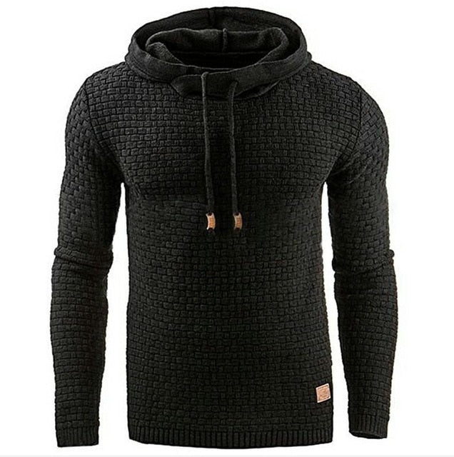 Hoodies Men 2018 Brand Male Long Sleeve Large Size Lattice Hooded Sweatshirt Mens Hoodie Tracksuit Sweat Coat Casual Pullover-novahe