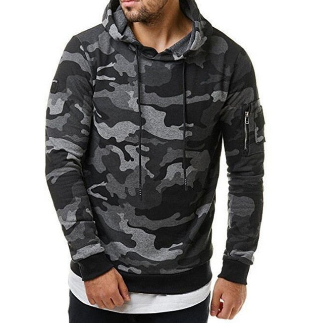 Laamei New Autumn Men Hoodies Sweatshirt Fashion Cool Camouflage Military Tracksuit Casual Long Sleeve Male Hooded Pullover-novahe