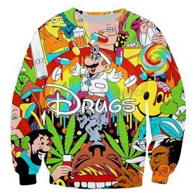 PLstar Cosmos 2018 Autumn New Fashion 3d Hoodies Cartoon Super Mario 3D print Hooded Sweatshirt Funny drugs casual Pullovers-novahe