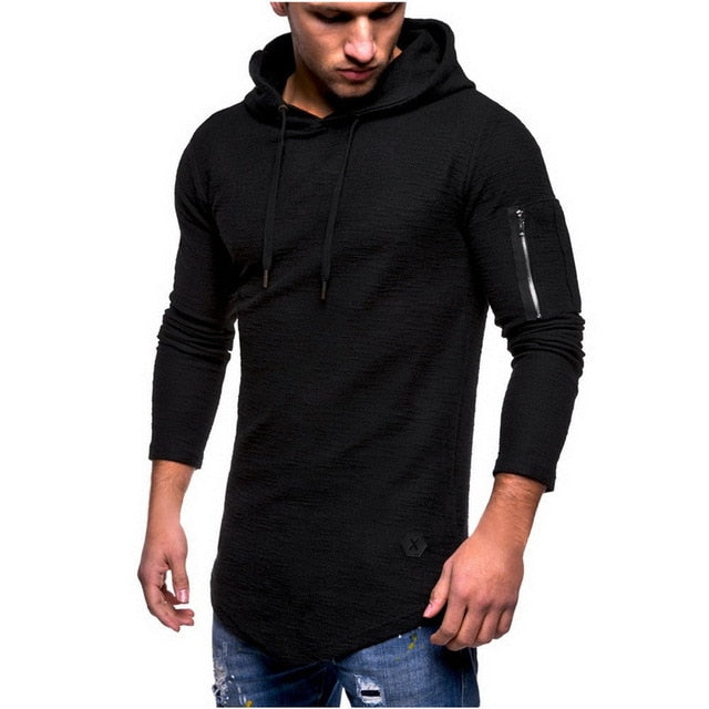 Laamei 2018 New Autumn Men Hoodie Zipper Sweatshirt Mens Casual Hip Hop Hoodies Fashion Brand Slim Fit Male Hoodie Pullover-novahe