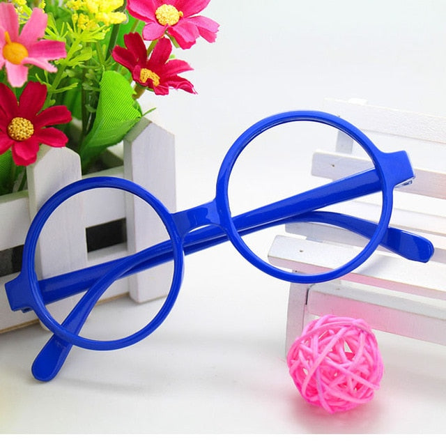 2018Hot Harry Potter Rush Tide Round Children Glasses Frames Unisex Candy Color Cartoon Cute Eyeglasses Glasses-novahe
