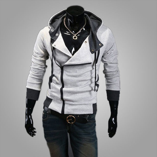 2018 Casual Cardigan Men Hoodie Sweatshirt Long Sleeved Slim Fit Male Zipper Hoodies Assassins Creed Jacket Plus Size M-6XL-novahe