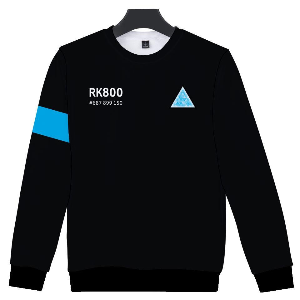 Aikooki RK800 Detroit Become Human 3D Sweatshirt Men/Women Hip Hop 3D Hoodies Sweatshirt Capless Polluver Boys/Girls Cool Tops-novahe