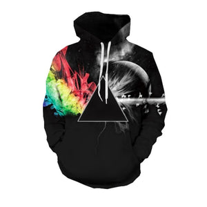 2018 Fashion 3d Hooded sweatshirt Colorful triangle combination print Men/Women Starry sky pullover Hoodies Sweatshirts-novahe
