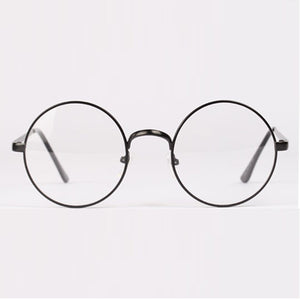 Fashion Retro Round Metal Frame Clear Lens Glasses Nerd Spectacles Eyeglass Unisex-novahe