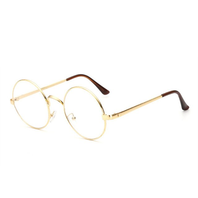 YOOSKE Round Spectacle Glasses Frames Glasses With Clear Glass Women Men Optical Frame Transparent Glasses For Harry Potter-novahe