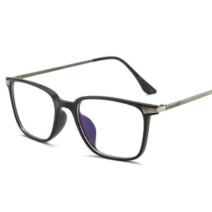 Square Eyeglasses Myopia Glasses Frame Black TR90 Titanium Computer Glasses With Clear Lens Optical Protection Eyewear Women Men-novahe