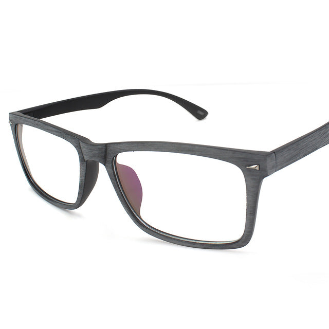 dc619a2d698 Anti Blue Rays Square Eyeglasses Frames Wood-like Computer Glasses  Prescription Eye Glasses Spectacle Eyewear