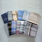 12pcs/lot Assembly Handkerchiefs Classic Plaid Check Mocket Women and Men 100% Cotton Hanky-novahe
