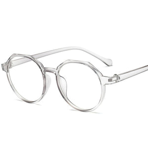 High Quality TR Frame Fashion Glasses Women Eyeglasses frame Vintage Round Clear Lens Glasses-novahe