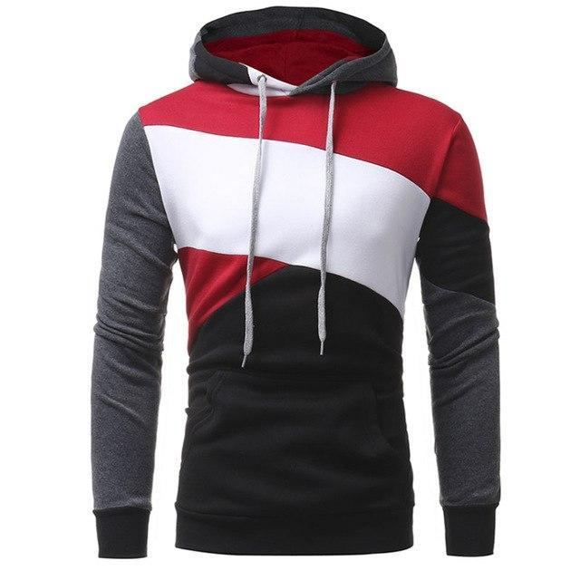 Johns 2018 New Fashion Hoodies Brand Men Multi-Color Stitching Sweatshirt Male Hoody Hip Hop Autumn Winter Hoodie Mens Pullover-novahe