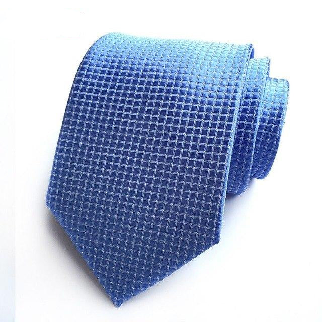 ROPALIA Silk Plaid Ties Men Stropdassen Wedding Cravate Pour Homme Jacquard Woven Neck Tie Party Business Formal Ties T7-novahe