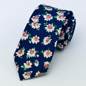 Floral ties Cotton Floral Ties For Men Suit Gravatas Corbatas Slim Vestidos Neck Tie Cravat Male Handkerchief-novahe