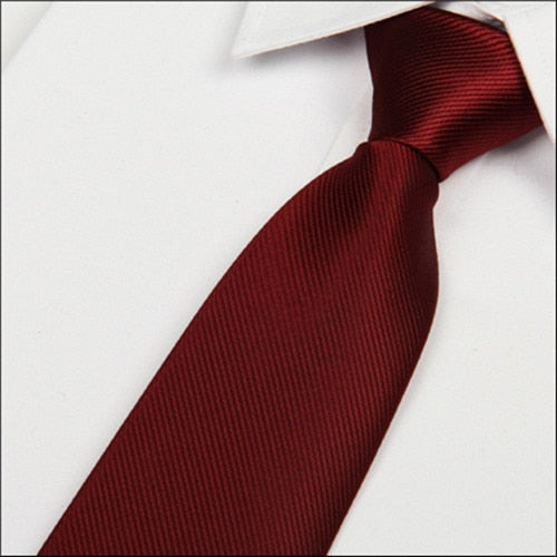 SHENNAIWEI 2016 new 8cm Wine red silk tie men's microfiber neckties fashion gravata slim striped Dark red neck ties atacado-novahe