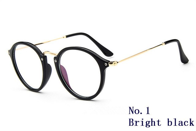 Round Glasses Women Transparent Clear Fashion Decorative No Degree Lens Big Armacao De Computer Eyeglasses Frames For Female-novahe